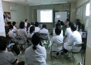医療スタッフ向け勉強会のようす